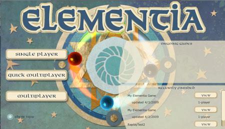 Elementia Title Screen