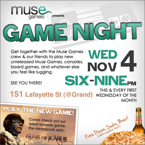 NYC Game Night Nov 4