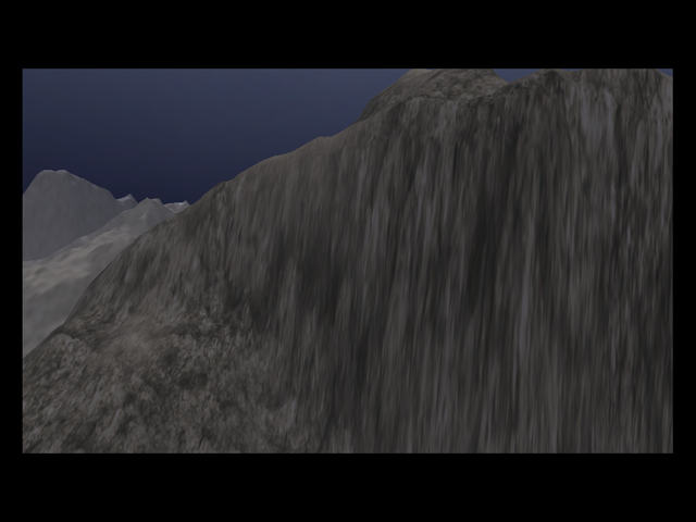 Stretched cliff texturing